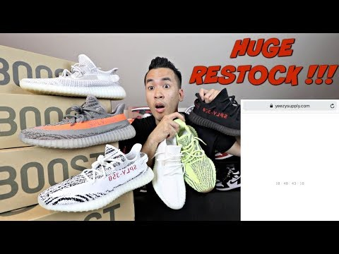 HUGE YEEZY RESTOCK OR V3 RELEASE TOMORROW ?!! YEEZY SUPPLY & ADIDAS (FUNNY SKIT KANYE CUSS ME OUT)