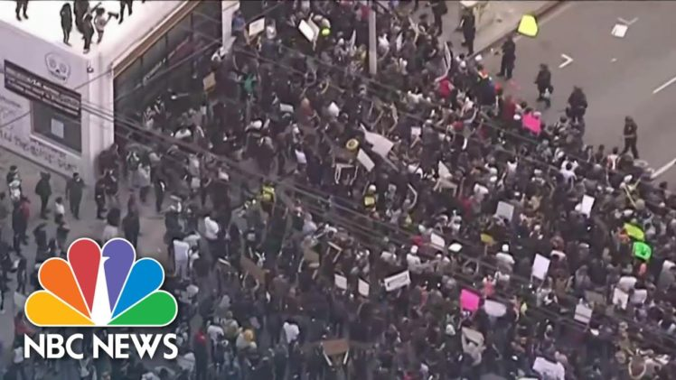 Protests Leave Little Space For Social Distancing As Coronavirus Rages On | NBC Nightly News