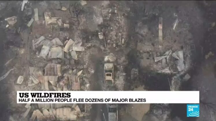 Half a million flee forest fires in US West Coast