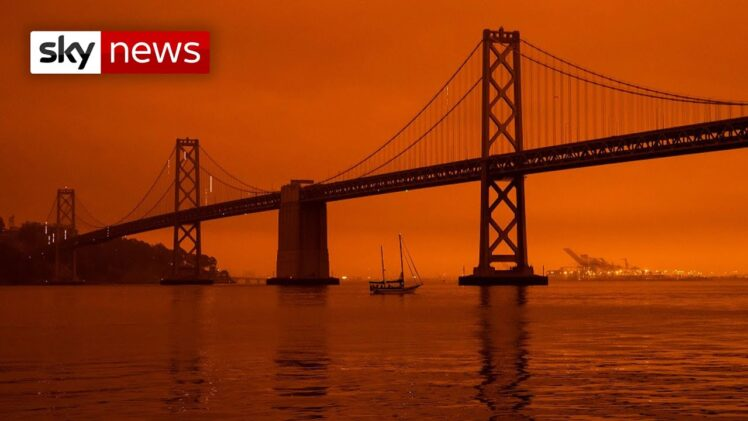 San Francisco sky turns orange as wildfires rage on US West Coast