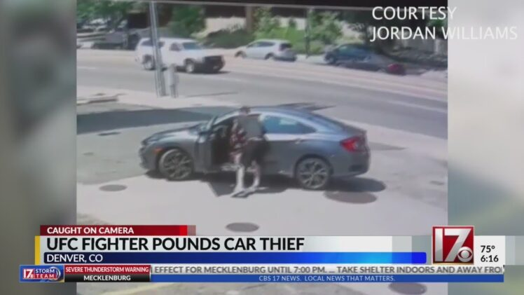 Thief tries stealing UFC fighter's car, quickly learns he made a big mistake